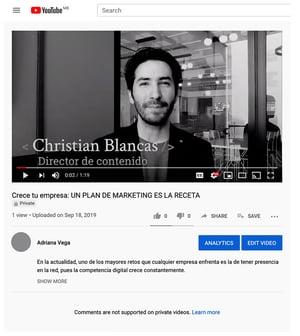 Pagina de video